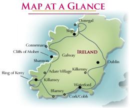 Blarney Ireland Map.Ireland The Emerald Isle R J Tours